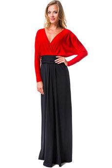 Вечернее красное черное платье Mondigo