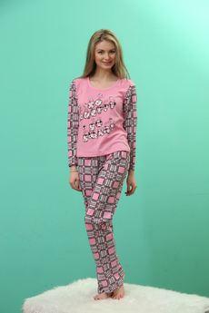 Комплект домашний: футболка с длинным рукавом и брюки FIORITA