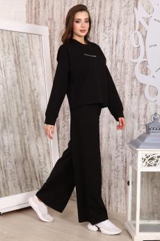Женский черный свободный костюм Натали