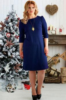Темно синее платье футляр Шарлиз