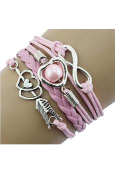 Розовый браслет со знаком бесконечности Kokette