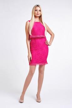 Розовое коктейльное платье Paola Rossi